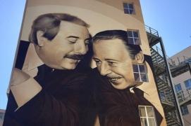 Mafia: murales a Palermo per Falcone e Borsellino