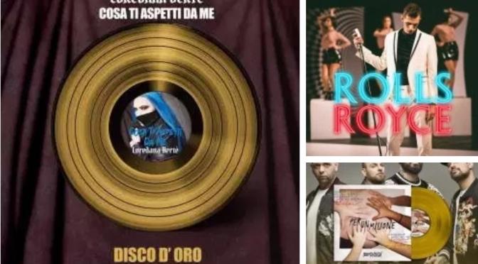 Disco d'oro per Loredana Bertè, Achille Lauro, Boomdabash, Shade e Federica Carta. Scopri le certificazioni Fimi della settimana.