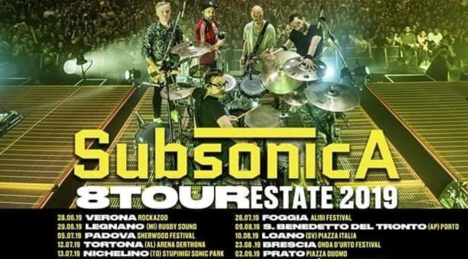 """I Subsonica annunciano le date estive del """"8 Tour"""""""