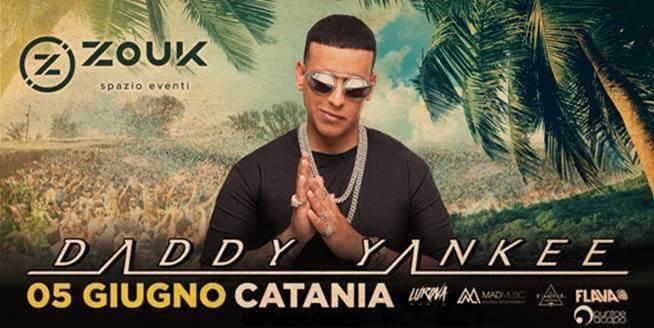Per la prima volta in Sicilia Arriva a Catania il re mondiale del Reggaeton DADDY YANKEE, 5 Giugno.